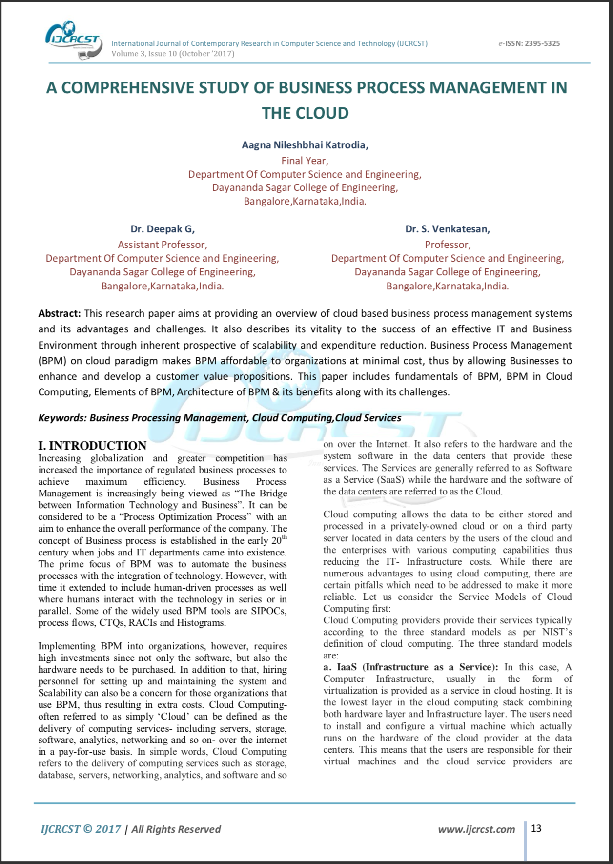 Master of Science in Information SystemsBachelor of Engineering in Computer SciencePublication 1Publication 2